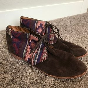 Dolce Vita Brown Tribal Chukka Ankle Lace Boots